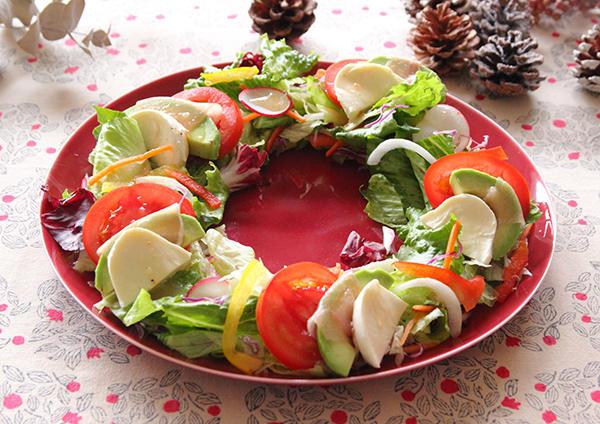 アボカド生ハムのカプレーゼリースサラダ 画像