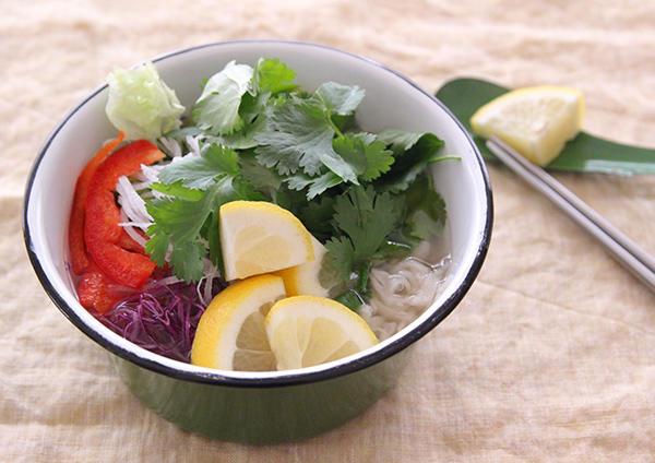 パクチーと切干大根のフォー風スープ 画像