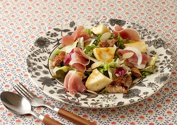 いちじくと焼きカマンベールのサラダ 画像