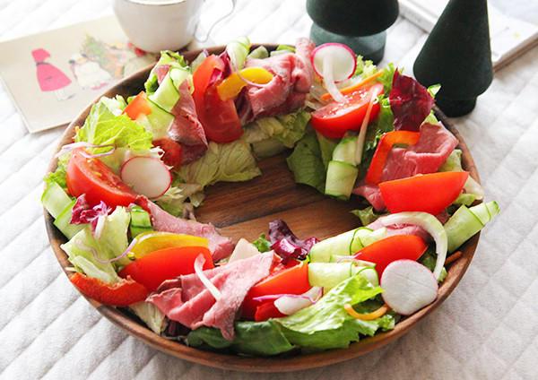 マヨチーズソースのローストビーフリースサラダ 画像